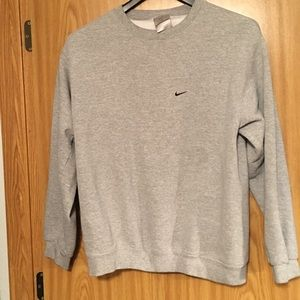 Vintage Nike Crewneck Sweater Mens Medium M Gray